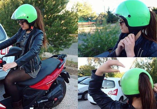 Genius Japanese Inventions motorbike helmet ponytail