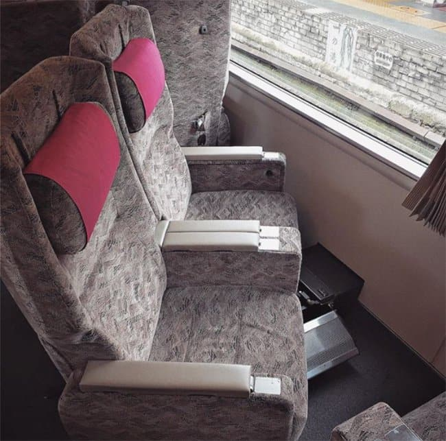 Genius Japanese Inventions turning train chairs