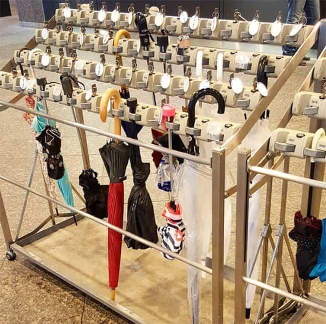 Genius Japanese Inventions umbrella parking lot