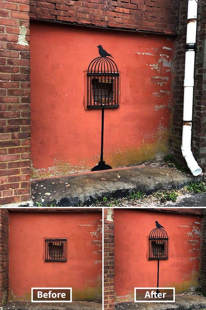 Genius Street Artist bird cage