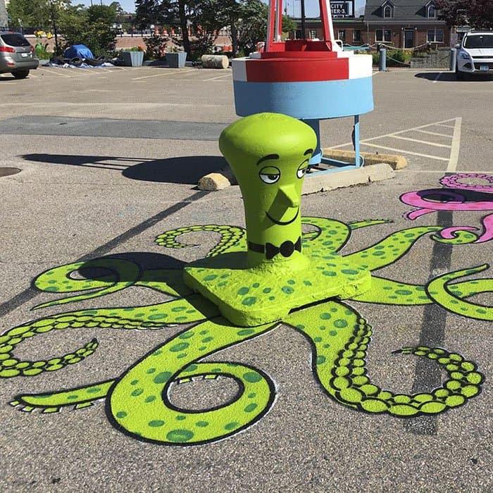 Genius Street Artist octopus