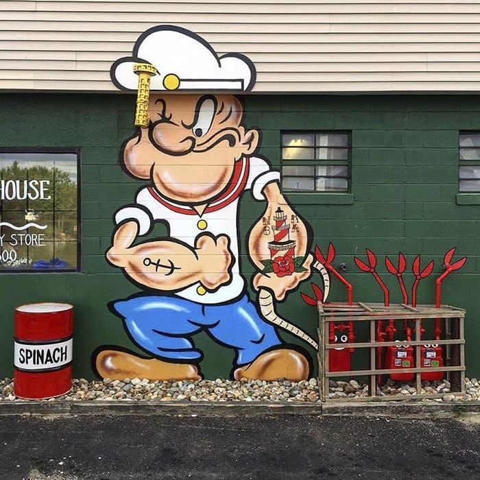 Genius Street Artist popeye