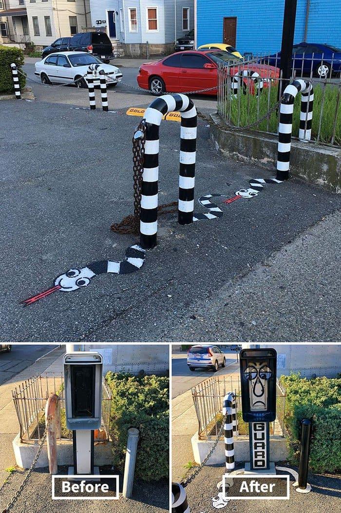 Genius Street Artist snake and guard