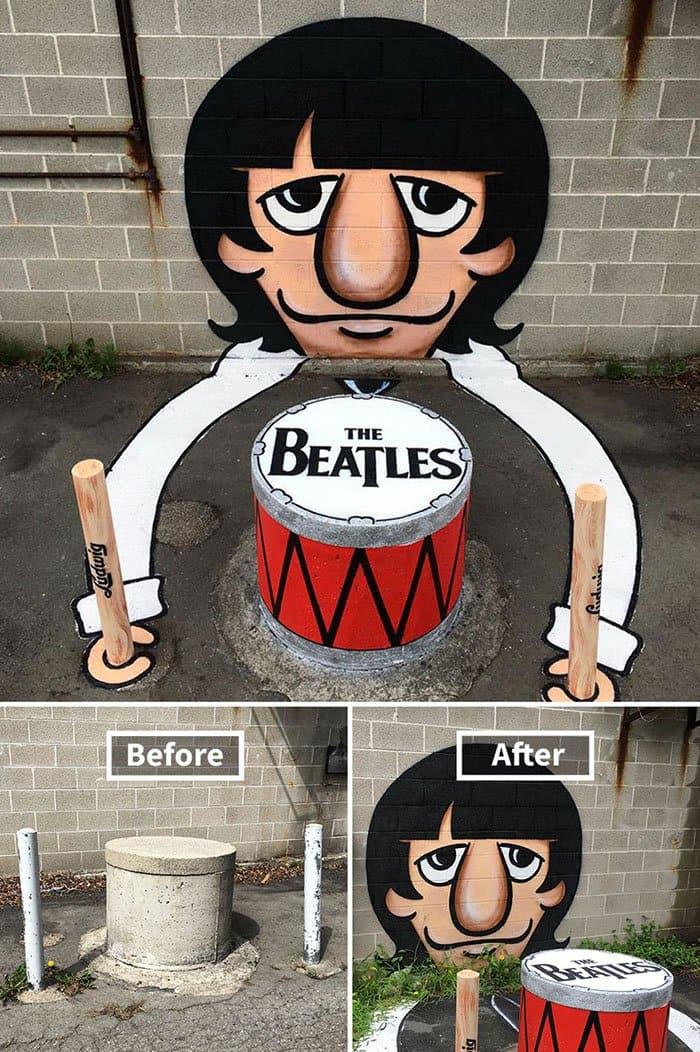 Genius Street Artist the beatles