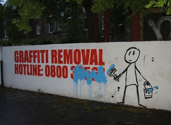 Genius Vandalism graffiti removal hotline