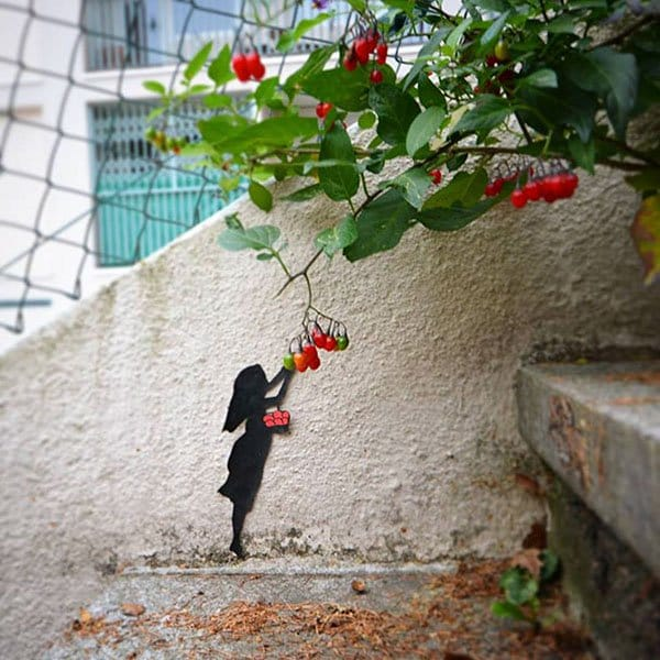 Genius Vandalism picking berries