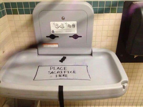 Genius Vandalism place sacrifice here