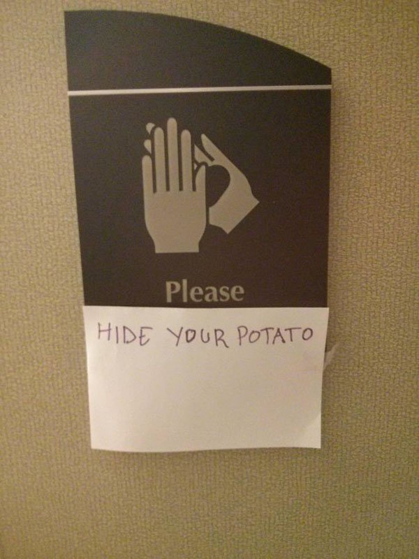 Genius Vandalism please hide your potato