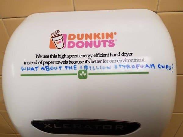 Genius Vandalism styrofoam cups