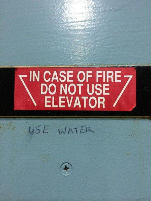 Genius Vandalism use water