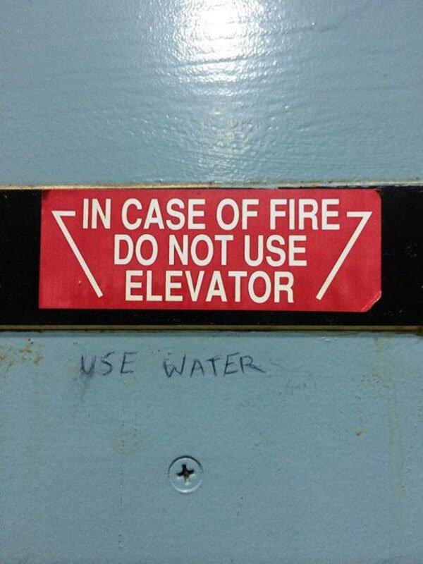 Genius Vandalism use water
