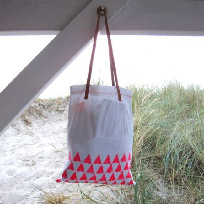 Hand Made Things You Can Create With Your Kids beach bag