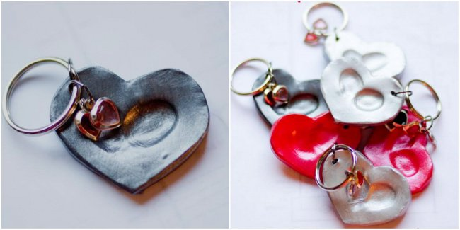Hand Made Things You Can Create With Your Kids fingerprint pendants finished