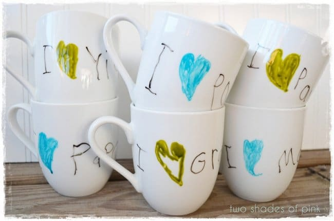 Hand Made Things You Can Create With Your Kids mug decorating