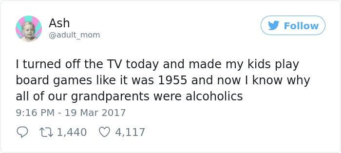 Hilarious Parenting Tweets grandparents alcoholics