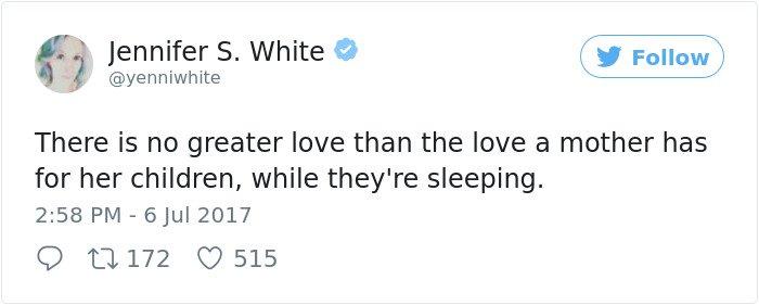Hilarious Parenting Tweets love children when theyre sleeping