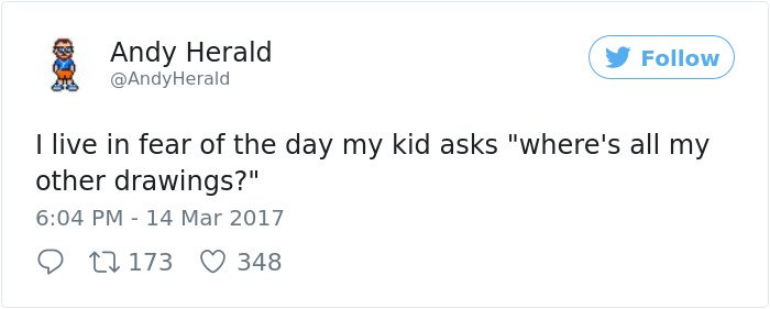 Hilarious Parenting Tweets wheres all my drawings