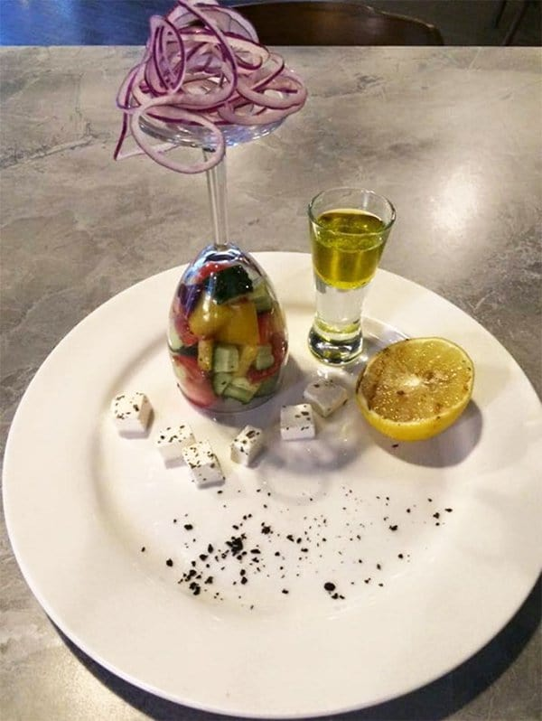 Hipster Restaurants Went Too Far With Food Serving salad in wine glass
