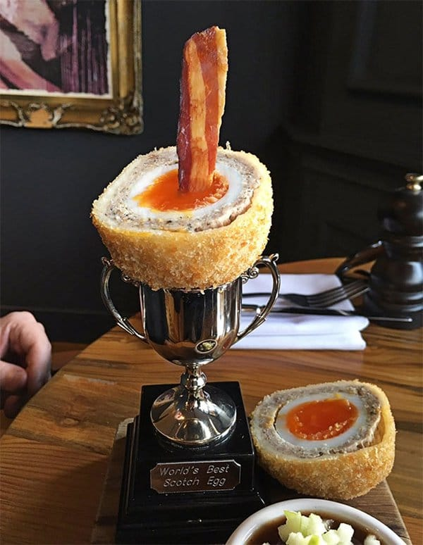 Hipster Restaurants Went Too Far With Food Serving scotch egg trophy