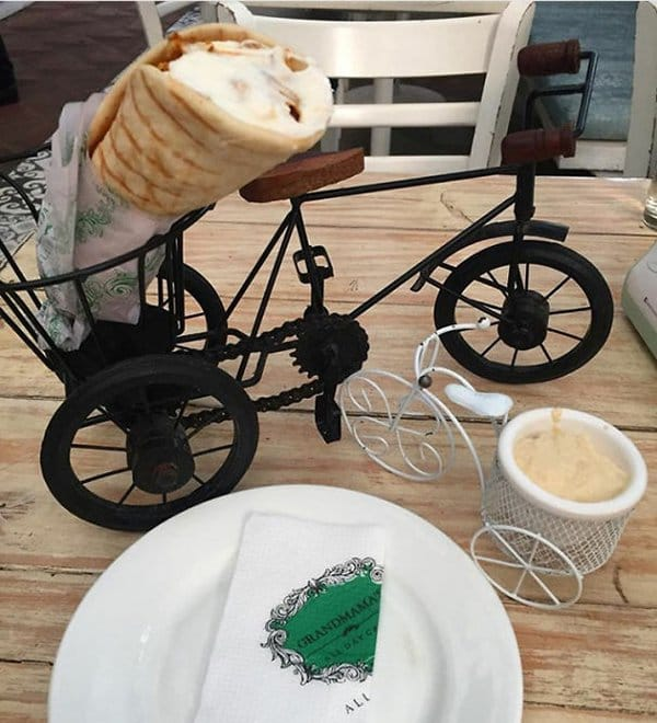 Hipster Restaurants Went Too Far With Food Serving sharwama on a bicycle