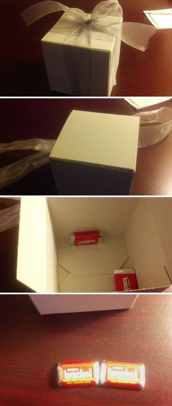 Hotel Fails gift box with 2 chocolates
