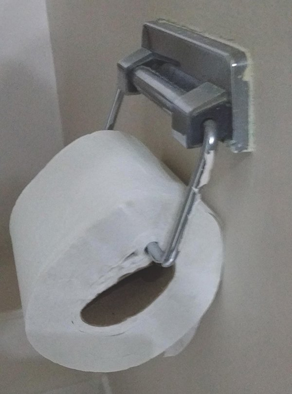 Hotel Fails impaled toilet roll