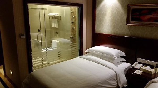 Hotel Fails see through bathroom doors