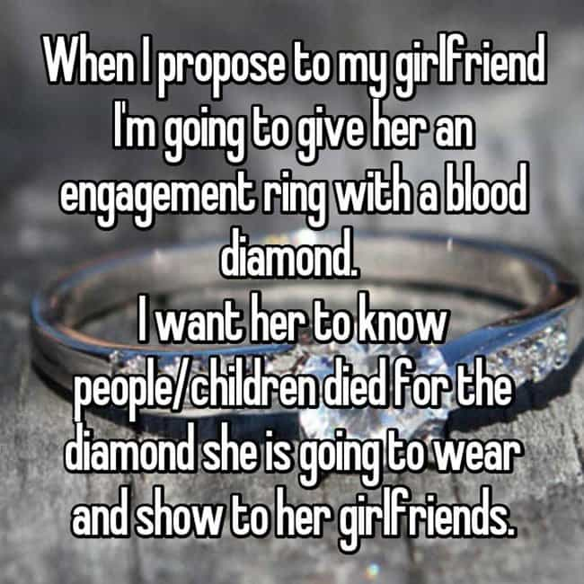 How Men Really Feel About Buying Engagement Rings blood diamond