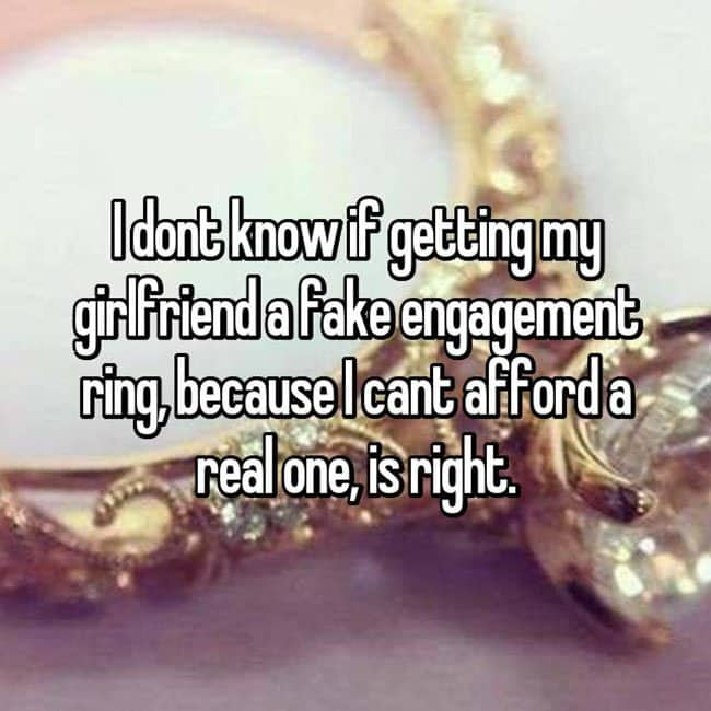 How Men Really Feel About Buying Engagement Rings fake