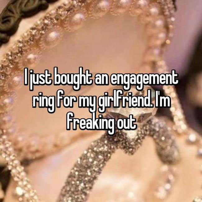 How Men Really Feel About Buying Engagement Rings freaking out
