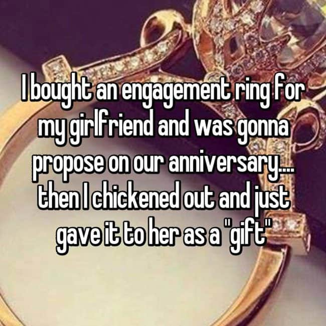 How Men Really Feel About Buying Engagement Rings gave it to her as a gift