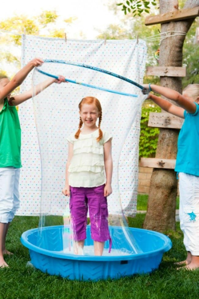 How To Keep Kids Entertained giant soap bubbles hula hoop