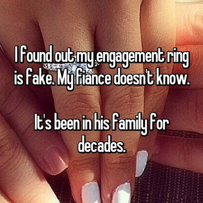 How Women Feel About Fake Engagement Rings been in his family for decades