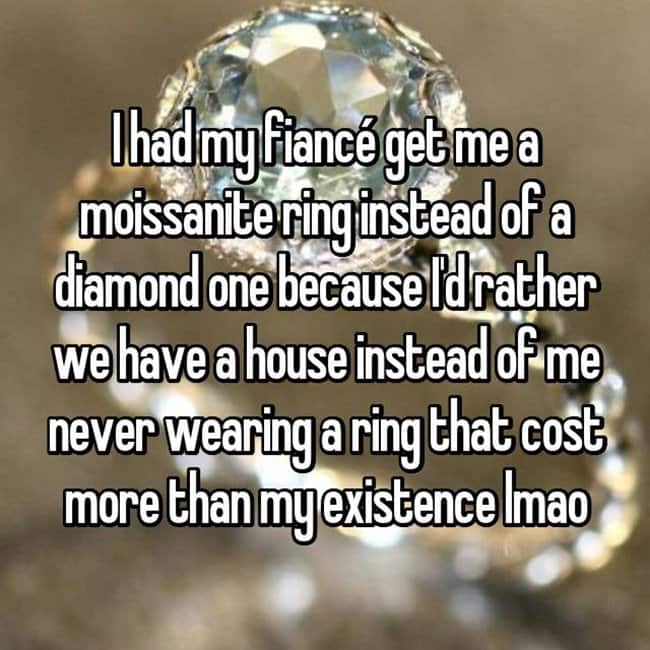 How Women Feel About Fake Engagement Rings cost more than my existence