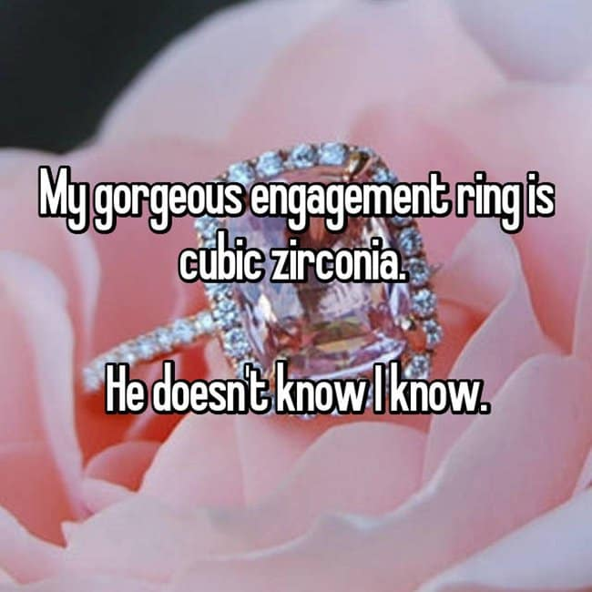 How Women Feel About Fake Engagement Rings cubic zirconia