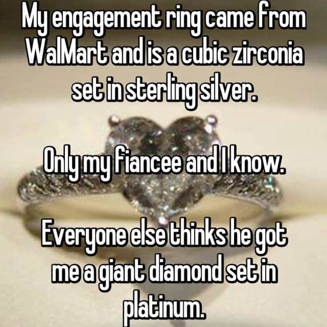 How Women Feel About Fake Engagement Rings only me and my fiance know