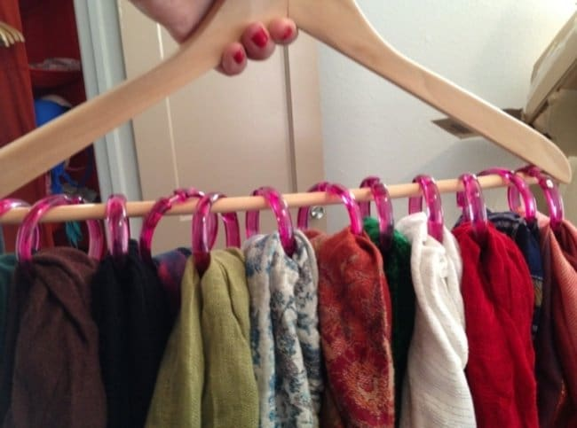 Ideas For Where To Store Things hanger shower curtain rings