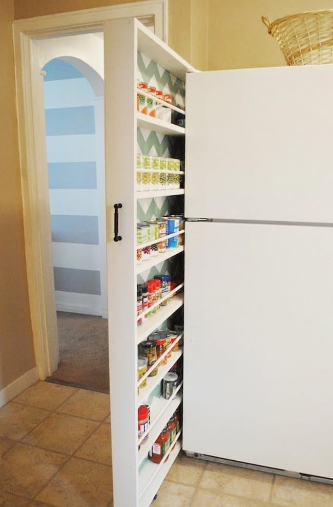 Ideas For Where To Store Things narrow shelves