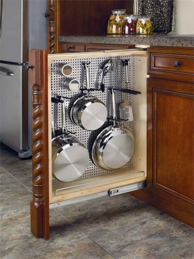Ideas For Where To Store Things sliding cupboard