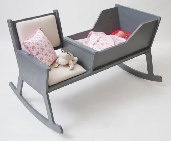 Incredibly Cool Inventions cot with rocking chair