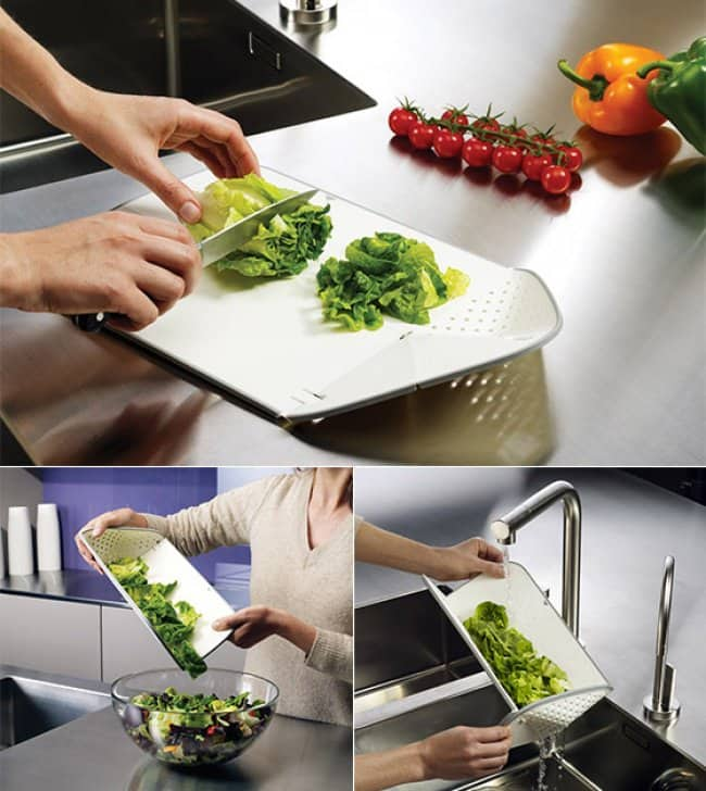 Incredibly Cool Inventions cutting board colainder