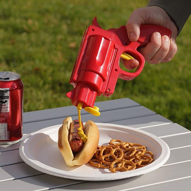 Incredibly Cool Inventions gun sauce dispense