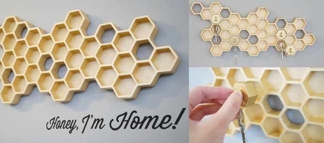 Incredibly Cool Inventions honeycomb key holder
