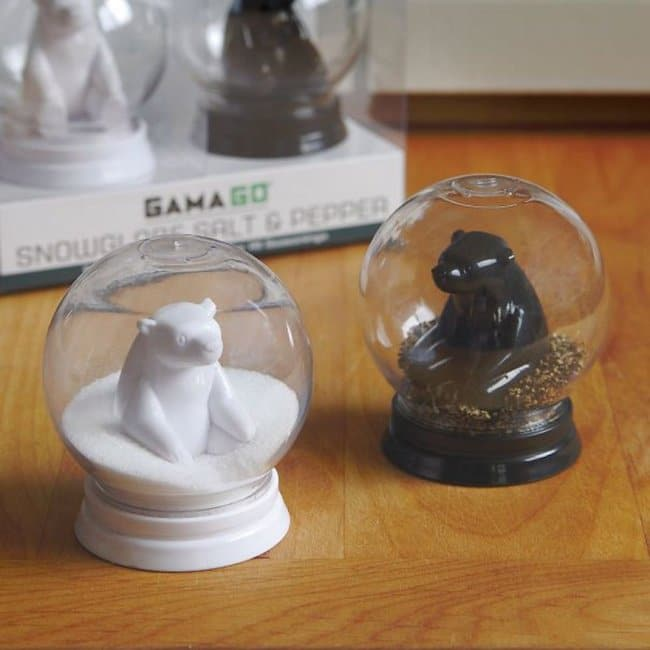 Incredibly Cool Inventions snow globe salt and pepper shakers