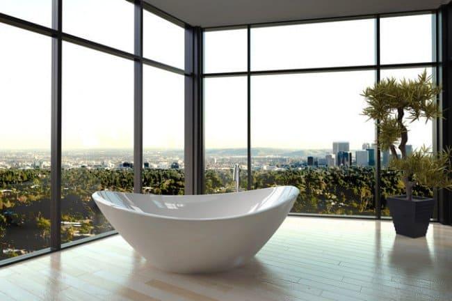 Luxurious Bath Tubs city views