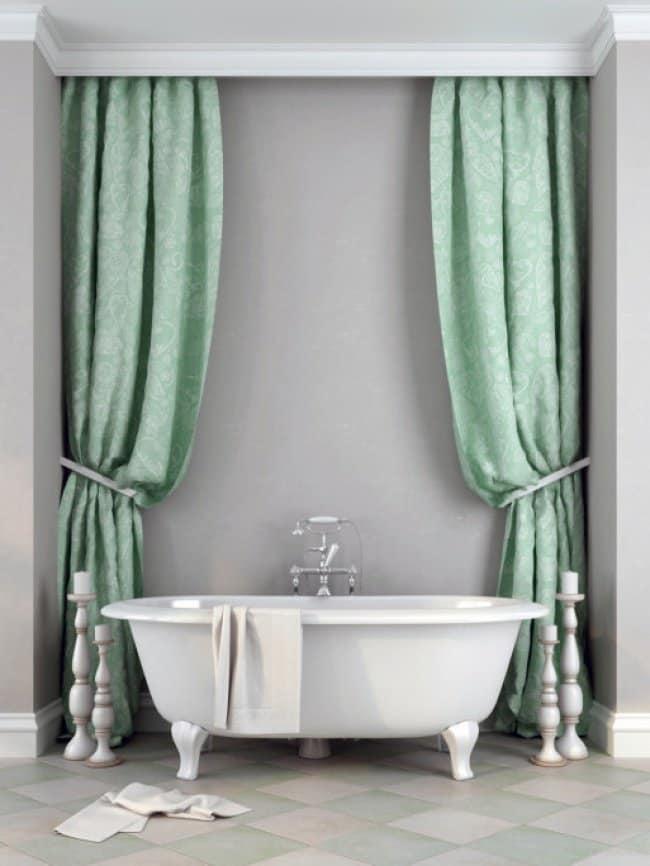 Luxurious Bath Tubs curtains
