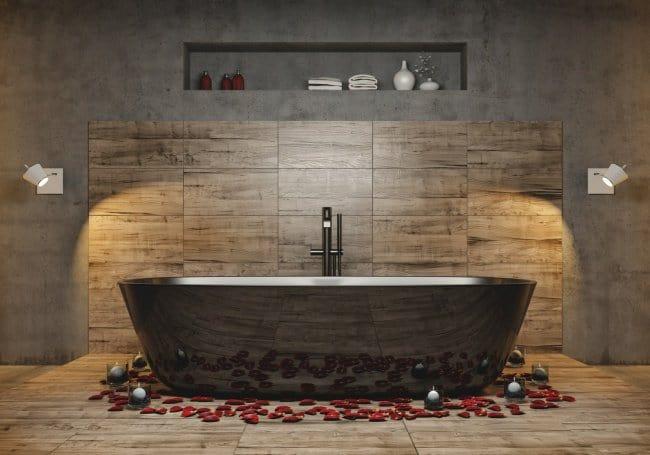 Luxurious Bath Tubs feature lighting