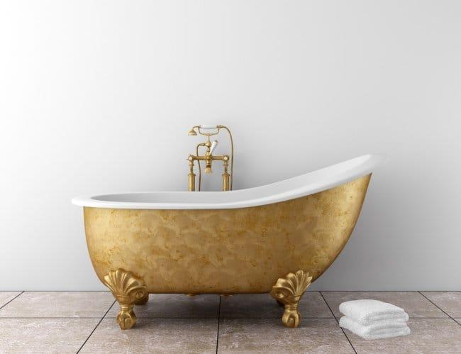 Luxurious Bath Tubs gold