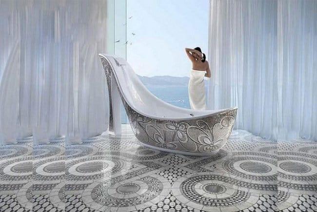 Luxurious Bath Tubs shoe shaped