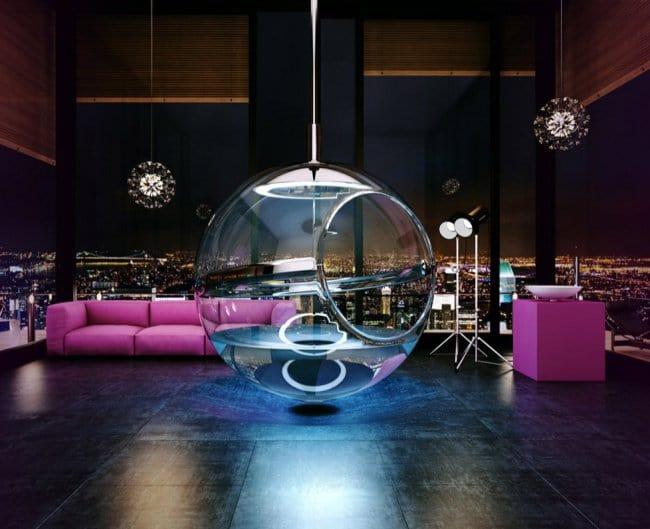 Luxurious Bath Tubs suspended ball